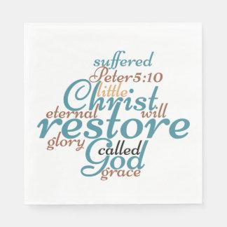 Christlicher CHRISTUS STELLT SIE Papierservietten