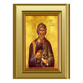 Christlicher Ikon des Evangeliumverfassers Postkarte