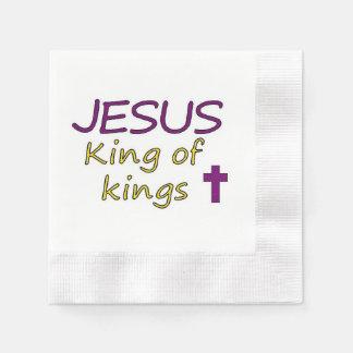 Christlicher Jesus-König von Königen Papierservietten