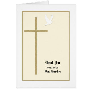 Christliches Denkmal danken Ihnen zu kardieren Karte