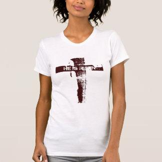 Christliches Kreuz WIRD ER GESTIEGEN T-Shirt