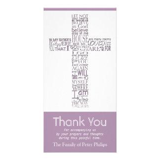 Christliches Querjohn-14:02 - Beileid danken Ihnen Karte