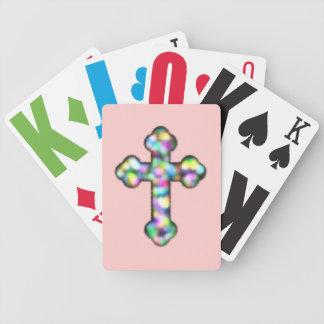 Christliches Regenbogen-Kreuz Bicycle Spielkarten
