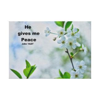 Christliches Sprichwort, schöne Blumenkunst Leinwanddruck