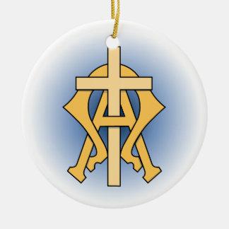 Christliches Symbol Keramik Ornament