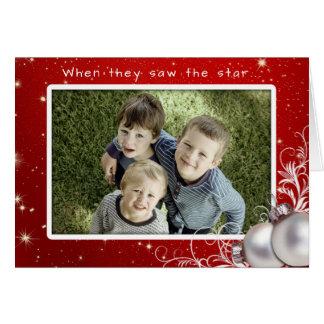 Christliches Weihnachtsgroße Foto-Gruß-Karte Grußkarte