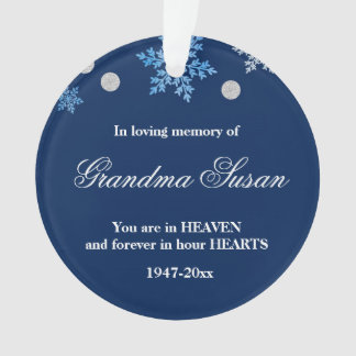 Christmas Ornament Memorial Grandma Snowflakes