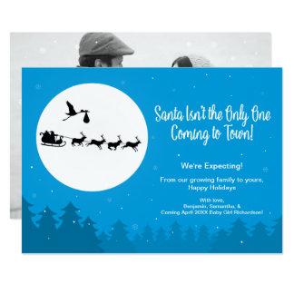 Christmas Pregnancy Announcement Photo Coming Town 12,7 X 17,8 Cm Einladungskarte