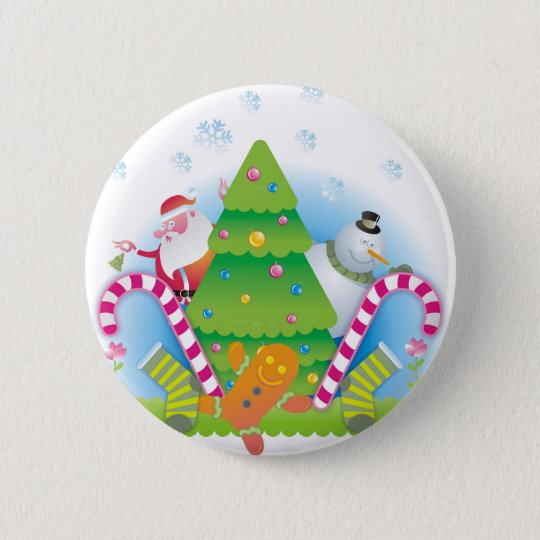 christmas runder button 5,7 cm