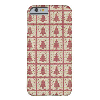 Christmassy Rot gestricktes Muster Barely There iPhone 6 Hülle