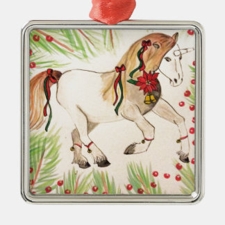 ChristmasUnicorn Silbernes Ornament