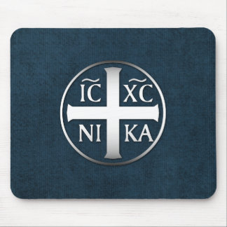 Christogram ICXC NIKA Jesus erobert Mousepads