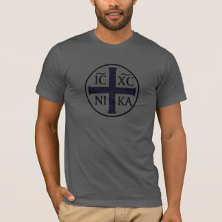 Christogram ICXC NIKA Jesus erobert T-Shirt