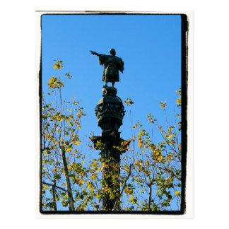 Christoph Kolumbus - Postkarte Barcelonas, Spanien