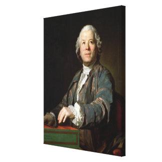 Christoph Willibald Gluck à l'épinette, 1775 Toile Tendue Sur Châssis