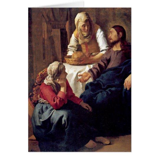 Christus im Haus von Martha durch Johannes Vermeer Karte