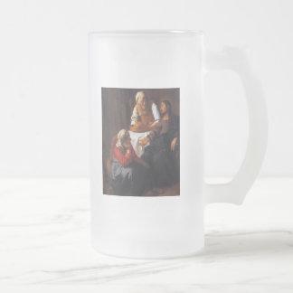 Christus im Haus von Mary u. von Martha Mattglas Bierglas