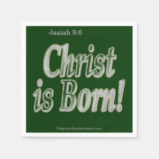 Christus ist geboren papierserviette