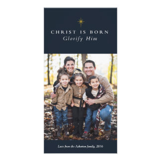 Christus ist geborene religiöse karte