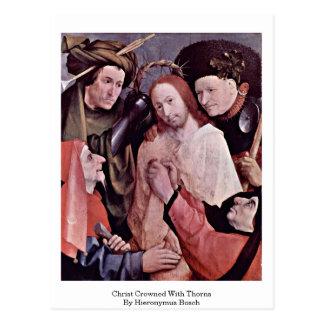 Christus krönte mit den Dornen. Durch Hieronymus Postkarte