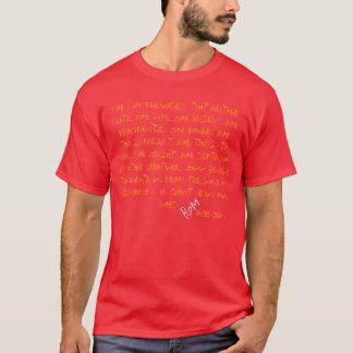 """Christus-Weg-Kleid """"Römer """"8: 38-39 """" T-Shirt"""