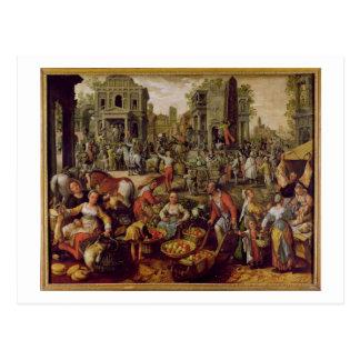 Christus zeigte zu den Leuten an Postkarte