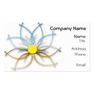 Chrom-abstrakte Gänseblümchen-Geschäfts-Karte Visitenkarten Vorlage
