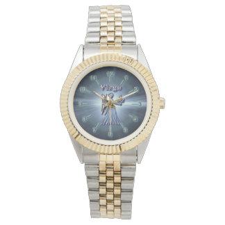 Chrom-Jungfrau Uhr