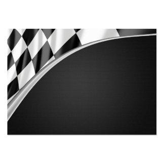Chrom-Kurven-Flagge Visitenkartenvorlagen