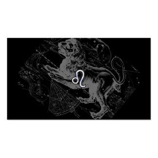 Chrom mag Löwe-Tierkreis-Zeichen auf Hevelius Visitenkarten