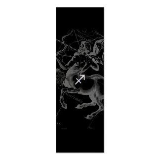 Chrom mag Schütze-Tierkreis-Zeichen auf Hevelius Jumbo-Visitenkarten