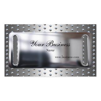Chrom-Metallsilber-Blick-Platte verziert elegantes Visitenkarte