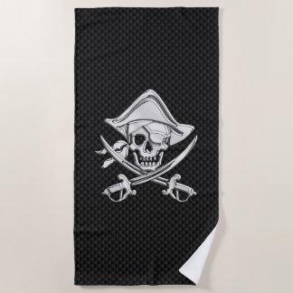 Chrom-Pirat auf Kohlenstoff-Faser-Druck-Dekor Strandtuch