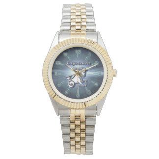 Chrom-Steinbock Armbanduhr