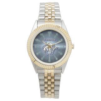 Chrom-Stier Armbanduhr