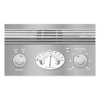 Chrom-Vintager Radio Visitenkartenvorlage