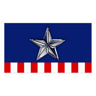 Chrom wie silberner Stern-festliche patriotische Visitenkarten