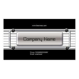 Chrome Image Silver Grey Metal Company Visitenkarten