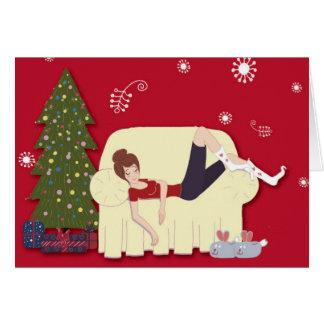 Chronische Weihnachtskarte Grußkarte