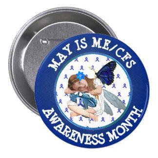 Chronischer Ermüdungs-Syndrom-Bewusstseins-Knopf Runder Button 7,6 Cm