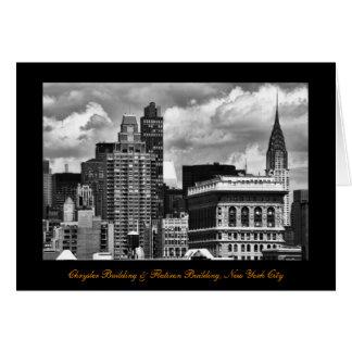 Chrysler-Gebäude, Flatiron Gebäude, Himmel-Haus BW Karte