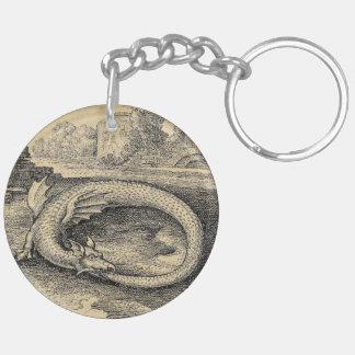 Chrysopoeia Ouroboros Schlange von Kleopatra Schlüsselanhänger