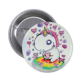 Chubbles das Einhorn Runder Button 5,1 Cm