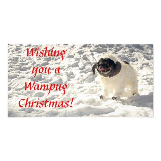 Chubbs la carte de Noël de Wampug Cartes De Vœux Avec Photo