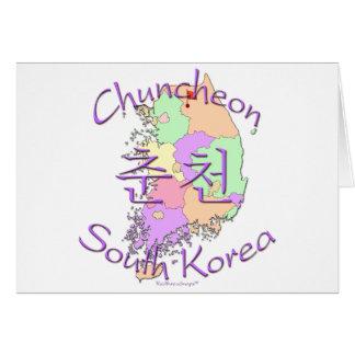 Chuncheon Südkorea Karte