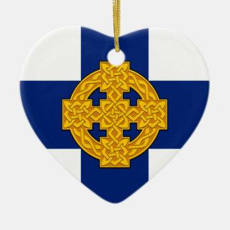 Church_in_Wales_flag Keramik Herz-Ornament