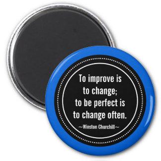 Churchill inspirierend Zitat Runder Magnet 5,7 Cm