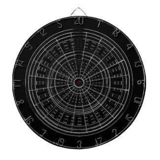 Cible De Fléchettes DARD Chakra - dur rugueux de roues argentées