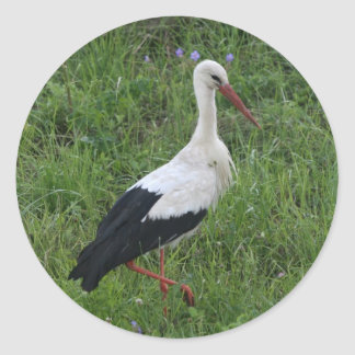 Cigogne 1 sticker rond