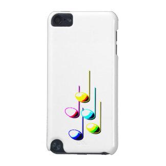 Cinq notes de musique dans le graphique de musicie